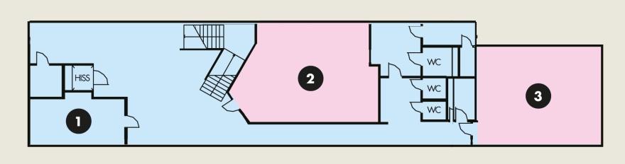 Översiktskarta plan 2 Karlsgatan 2. Förstora genom att klicka på bilden.