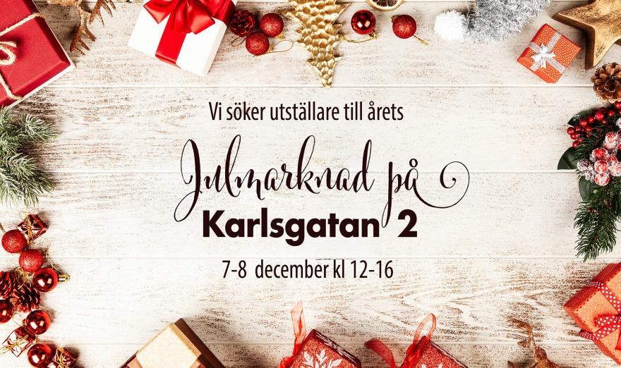 Julmarknad på Karlsgatan 2 år 2018