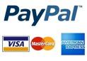 Betala med kontokort eller Pay Pal konto.