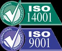 Hela vår verksamhet är klassad enligt ISO