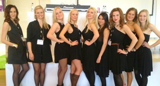 Eventpersonal, värdinnor, hostesses, Top Model Event, värdinna, mässpersonal.