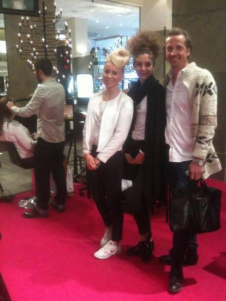 Personal vid stylingevent på NK i Stockholm. Percy&Reed lanserade sitt sortiment.