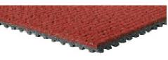 Mondos simhoppas matta läggs uppe på trampolinen. Tyngden på mattan gör att den ligger stadigt på plats. Bredd 122 cm och finns i olika färger men den röda är standard.