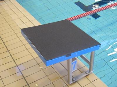 Den gamla startpallen har fått Swim Systems nya topp-platta = halksäker !