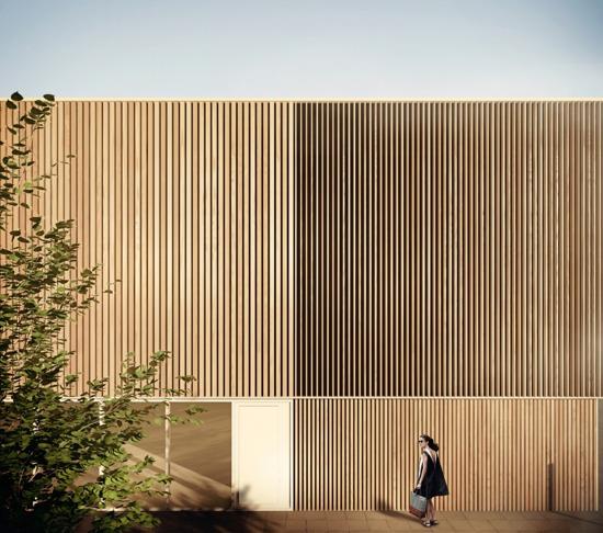 Extriört kan kunden välja olika passande lösningar. Här den fasad som kommer att användas i Culemborg, Holland.