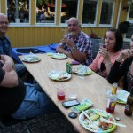 Happy Kadamo people at dinner!
