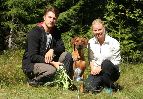"The Winner 2013- SEVCH Kadamo Heart Stopper ""Souki"" with her owners Marcus and Elin"