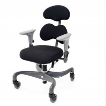 Forma - Eurovema A working chair with a patented seat that minimise the pressure on the body by different layers of foam in perfect combination of density and shape.