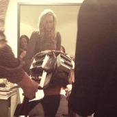 Bild från vår kundkväll då vi visade enkla håruppsättningar inför vinterns alla fester.