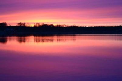 Sjön Södra Lången, taget en kväll med ett nästan magiskt ljus! Foto: Lena Segerberg