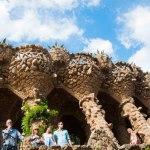 Inne i parken. Gaudi hade varit i farten även här.