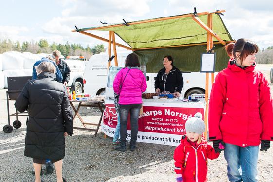 Ebbarps norrgård sålde hamburgare från egen gård.