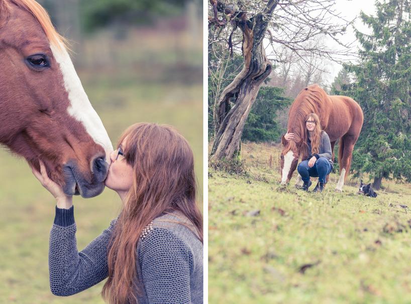 Emma och hennes fina gamla häst!