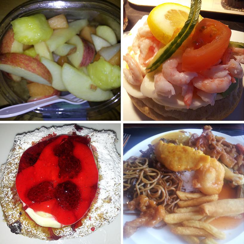 Äta måste man göra också, både nyttigt och onyttigt!!
