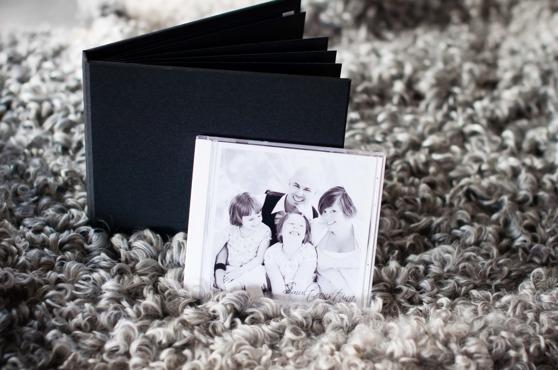 Ett färdigt album och skiva med högupplösta bilder.