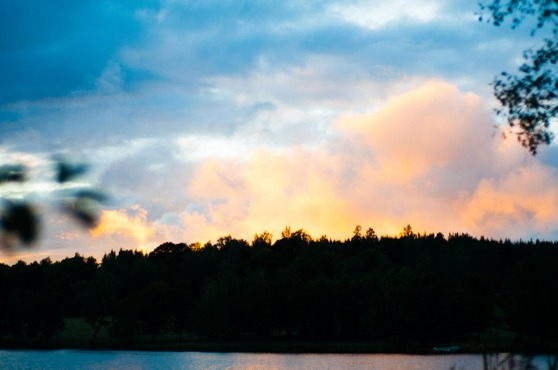 Fin himmel fick vi se, ser ut som den brinner