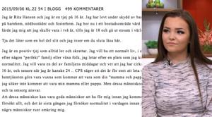 Rita, 16, söker efter fosterföräldrar – med ett blogginlägg