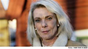 Pia Degermark har ingen relation till sin son.