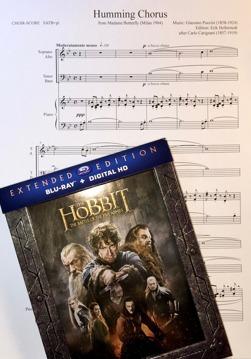 Transkriptionen av Puccinis musik från Madame Butterfly förekommer i The Hobbit - the Battle of the Five Armies Extended Edition - the Gathering Storm.