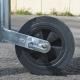 Bromsat stödhjul