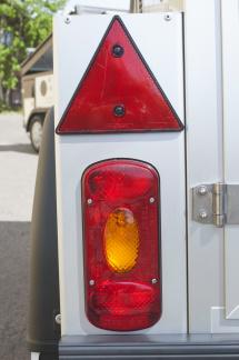 Metallhållare med rektangulär belysning i - Metallhållare Silver Vänster sida