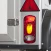 Metallhållare med rektangulär belysning i - Metallhållare Silver Höger sida
