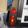Lampa ny rektangulär - Lampa vänster sida med rött dimljus