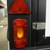 Metallhållare med rektangulär belysning i - Metallhållare Svart Vänster sida
