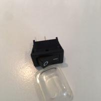 Belysningsknapp utvändig med plasthölje