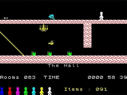 Screenshot from the ZX Spectrum version.