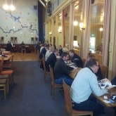 1120 personliga möten på 2.5 timme via Speed Businesss. På bilden bl.a. Svein-Olav Stölen, VD, Nomor