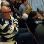 Peo Karlström fanns på plats både på föreläsningen och mötet för företagsledare