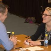 Mika Toivanen och Linda Wallin på Speed Business, 2018-02-22