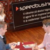 Mellansvenska Handelskammaren Stina Snitt, Triatech och Star Byggutbildning på Speed Business