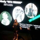 Tina Thörner föreläste för Speed Business och arrangören Mika Snell