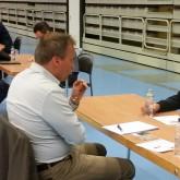 Torbjörn Sjöström, KPMG och Micke Norman från Gagnefs GK på Speed Business med Mika Snell