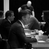 Lars-Åke Eriksson från Axel Larsson Maskinaffär på Speed Business® i nov 2019 med Mika Snell som arrangör