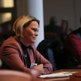 Susanna Karlevill, VD på Kopparstaden, på Speed Business® i nov 2019 med Mika Snell som arrangör