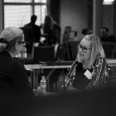 Alexandra Bennström från Swedbank på Speed Business® med Mika Snell som arrangör