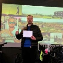 Anton Siljeström vinnare av singeltävlingen i Speed Business Golfen 2020 - av Mika Snell med Janne Svedin som arrangör