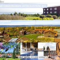 Villa Långbers, Klockargården och First Hotel Gyllene Hornet