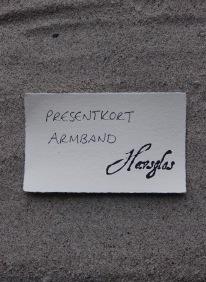 Presentkort armband