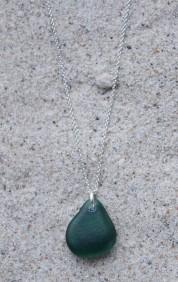 Green drop halsband