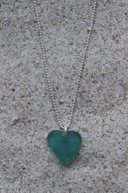 Turquoise heart halsband