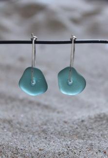 Small loop Turquoise örhängen