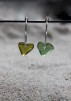 Small loop Olive&Green love örhängen