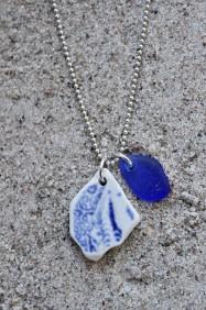 Perfect Match Twirling Blue halsband