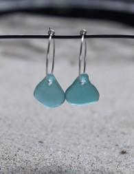 Small loop True Blue örhängen