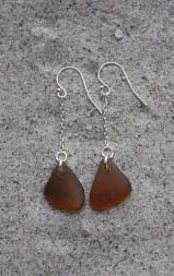 Brown örhängen