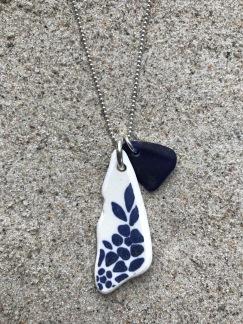 Perfect Match Deep Blue Blossom halsband